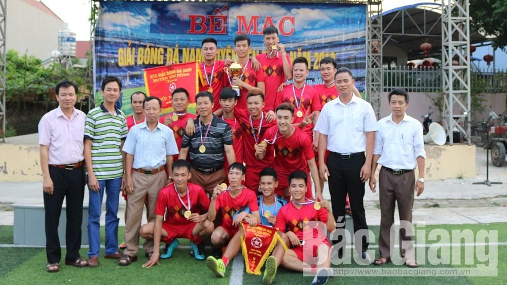 Xã Xuân Phú vô địch giải bóng đá nam toàn huyện năm 2018